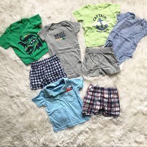 Carter's 6 Month bundle shorts shirts bodysuit